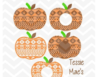 Aztec Pumpkin Monogram SVG, DXF, EPS (zip file) Instant Download