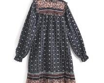 Girls Dress, Vintage Dress, Fall Dress, Women's XS Dress, Girls Vintage Dress, Girls Boho Dress