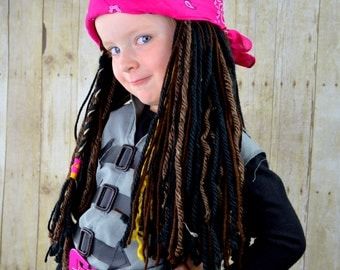 Pirate Wig Halloween Costumes Pirate Headpeice Photo Prop Pirate costume Beanie