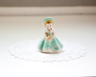 Vintage Josef Originals, Watering Girl Figurine, Plant Water Spike