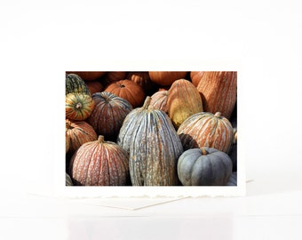 Pumpkin Cards, Halloween Cards, Blank Photo Greeting Cards, Card Sets, Fall Cards, Thanksgiving Cards, Harvest Cards, One