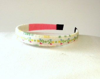 Spring Flower Headband - Fabric Hair Band - Vintage Hair Accessory - Gift For Her