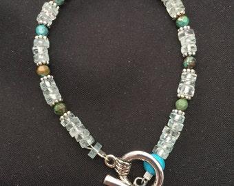 Bracelet: Aquamarine and Turquoise