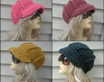 Crochet Newsboy Hat Crochet Brim Hat Winter Hat For Women Hair Accessories Crochet Accessories Fashion Hats