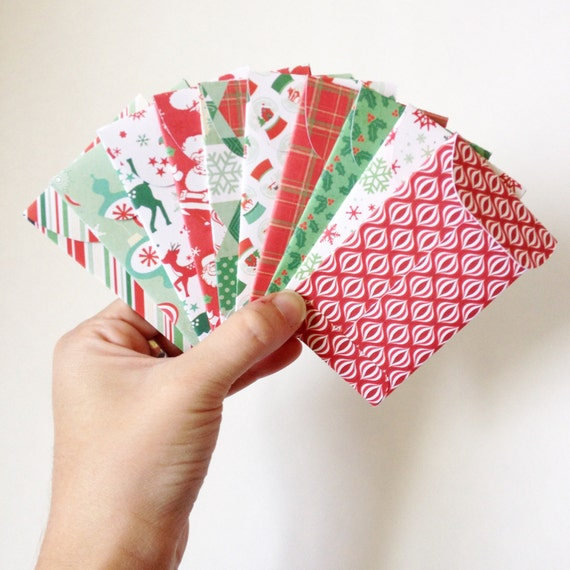 Set of 10 // Gift Card Holders // Mini Envelopes by ...