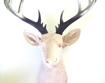 CUSTOM Any 3 colors XL Faux Taxidermy Deer head:  You choose your colors for head and blended/ ombre looking antlers // nursery // office
