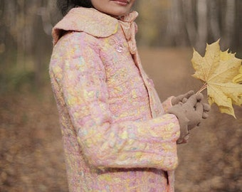 """Template for felted """"Coco"""" Coat with instructions"""
