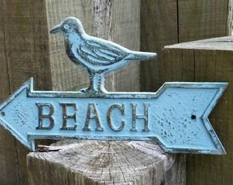 beach arrow sign outdoor beach sign outdoor metal wall art outdoor metal sign - Outdoor Metal Wall Decor