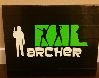 DUCT TAPE Archer on 11 x 14 Canvas