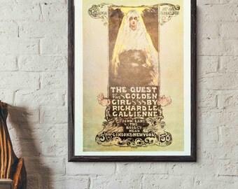Art Nouveau Classic Prints - France 1960's - The Quest of the Golden Girl
