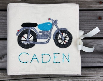 Motorcycle Personalized Cover for the Quiet Time Book