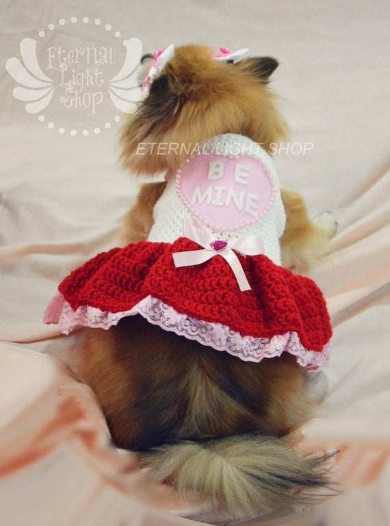 """Pet Valentine's """"Be Mine"""" Dress (XXS-XXL)"""