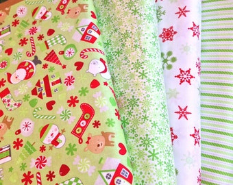 Home For the Holidays Green Fat Quarter Bundle