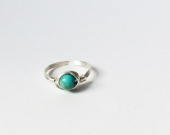 Glass Turquoise Ring