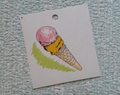 Vintage 1960's Picture Flash Card | Dick and Jane Type for Peg Board | Ice Cream Cone