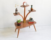 Mid Century Modern plant stand, flower bench, 60s plant stand, plant stand, 60s furniture
