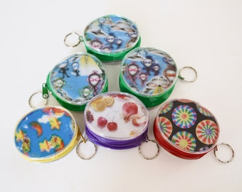 90s 3D Hologram Zip Up Keychain Coin Pouches, Trippy, Psychedelic, Kawaii, Stash Pocket