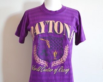 Vintage Daytona World Center of Racing Striped T-shirt, 1990s, Tourist Tee