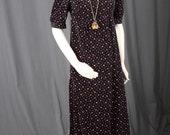 Black velvet dress maxi dress floral dress bohemian Gypsy Hippie bridesmaid women size XS extra small