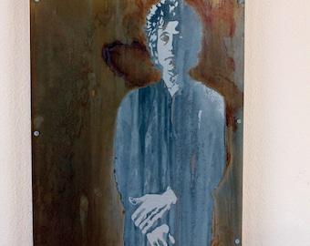 Bob Dylan Portrait, Gift for Music Lover, Metal Art, Industrial Decor, Original Art, Limited Edition Artwork, Pop Art, Industrial Art
