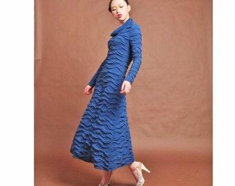 spring dress,cotton maxi dress,knit dress,super  long dress