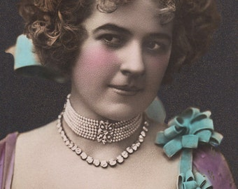 Fancy Edwardian Lady - New 4x6 Vintage Image Photo Print LE183