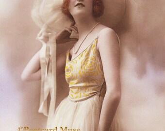 Art Deco Lady - New 4x6 Vintage Image Photo Print - LD026