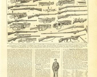 1922 Vintage rifle poster Shooting wall art Rifle poster firearm poster Shooting gift Gun gift Rifle gift for men Shooting decor