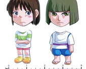 Mix and Match Magnets: Chihiro, Haku (Spirited Away Set 1)
