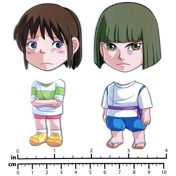 Mix and Match Magnets: Chihiro, Haku (Spirited Away Set 1)