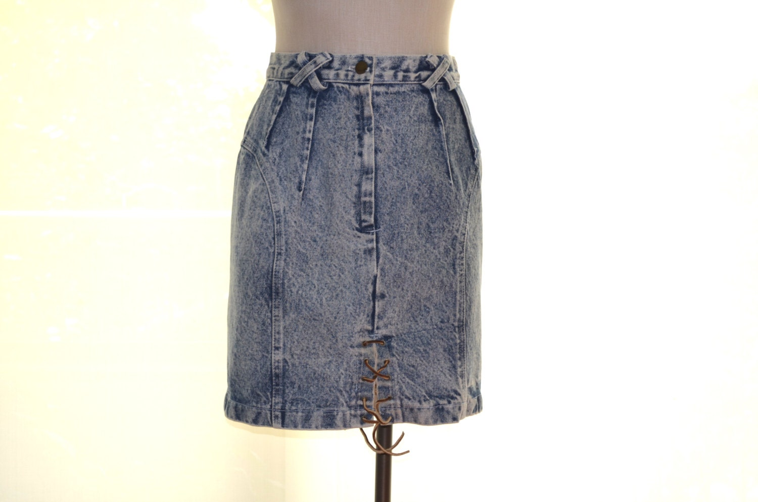 blue jean skirt s skirt stonewash denim skirt
