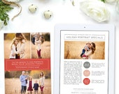 Holiday Newsletter Template for Photographers, Christmas Photography Marketing Template, Photography Templates, Advertisement - NWS111
