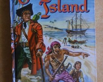 Vintage Children's Book - Treasure Island, Robert Louis Stevenson, Illustrated by Paul Frame, Whitman Publishing 1955, Prop Display