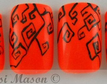 Halloween Vines Instant Acrylic Nail Set