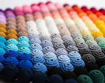 """Crochet beads 5 PCS 7/8"""" 22 mm  Wooden crochet cotton beads Crocheted bead Round beads Necklaces"""