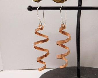 Spiral Copper Earring Pair