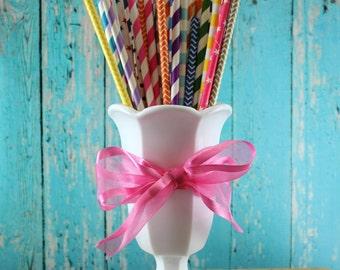 Milk Glass Pedestal Vase, Compote, Centerpiece, wedding, shower, shabby chic, mid century, white glass flower vase, candy buffet, kitchen