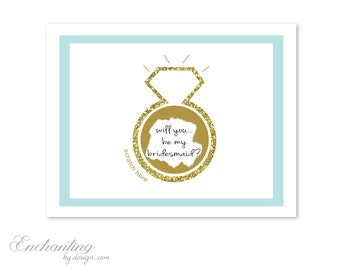 2 DIY Custom Add Your Own Message! Will You Be My Maid of Honor, Matron of Honor, Bridesmaid Scratch Off Note Cards - Bridal Shower