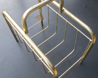 Mod Retro Goldtone Magazine Rack