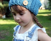 Raven Slouchy Hat - crochet pattern - Toddler, Child and Adult sizes - pdf format / eBook