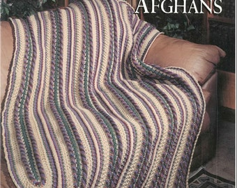 Up-to-the-Minute Mile-A-Minute Afghans to Crochet (digital .pdf) by Patricia Kristoffersen (five patterns); home decor; baby