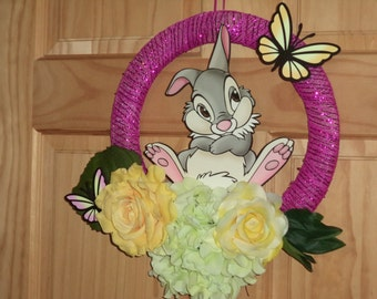 Bambi's Thumper / Spring Floral wreath