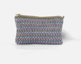 PDF tunisian crochet pattern OTOÑO en la CIUDAD pouch, clutch