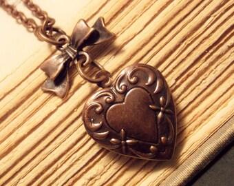 Copper Heart Locket