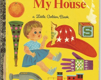 Vintage Little Golden Book Things In My House 1968