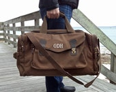 Canvas Duffle Bag / Groomsmen Gift / Mens Duffle Bag / Overnight Bag / Mens Weekend Bag / Travel Bag for Men / Carry On Luggage