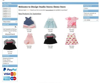 eCommerce osCommerce website