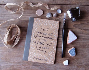 Anne of Green Gables hand painted pocket notebook with quote 4.15 x 5,70 inches