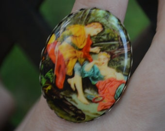 Nature Lovers Vintage Cameo Ring