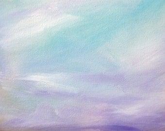 "Mountain Sunrise 8 x 10"" Original Oil Painting"